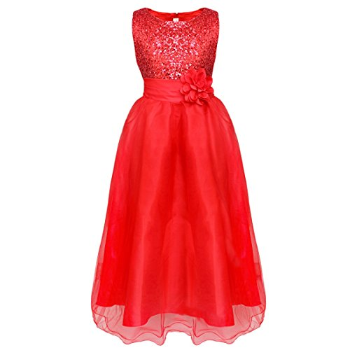YiZYiF-Kids-Girls-Sequined-Wedding-Dress-Bridesmaid-Formal-Christmas-Party-Gown