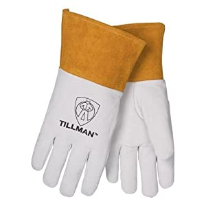 Pearl Gray Kidskin Premium Grade TIG Welders Glove With Para-aramid synthetic fiberÃ'® Stitching, Straight Thumb And 2 Cuff by John Tillman and Co from John Tillman & Co