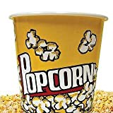 Wabash Valley Farms 44053 Small Plastic Popcorn Tub Traditional Yellow