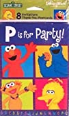 Sesame Street 8220P is for Party Invitations  8 Count