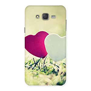 Impressive Couple Heart Back Case Cover for Galaxy J7