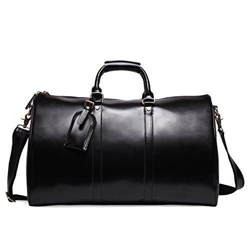 77f19330023e3 Leathario Borsa viaggio Borsone Vera pelle Bagaglio a mano borsa a ...