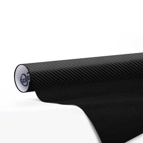 "3M Scotchprint 1080 Carbon Fiber Vinyl Flex Wrap Black CF12 60""x12"""