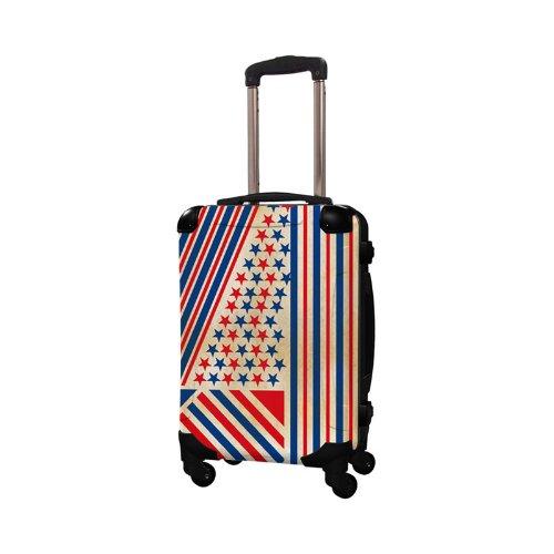 キャラート アートスーツケース ポップニズム  アメリカン (レッド×ブルー) フレーム4輪 機内持込