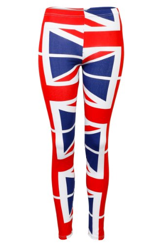 33Y New Womens Blue Union Jack Flag Print Ladies Long Stretch Leggings