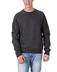 Aventura Outfitters Round-Neck Full Sleeve Solids Dark Grey Fleece Sweatshirt- L (AOSW02-L)