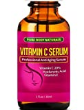 BEST ORGANIC Vitamin C Serum For Your Face. Botanical 20% Vitamin C + E + Hyaluronic Acid Serum. Anti Aging Serum Moisturizer with Natural Ingredients. Anti Wrinkle Serum Skin Care Removes Fine Lines Around Your Eyes - 100% MONEY BACK GUARANTEE