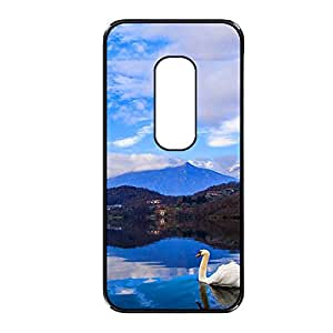 Vibhar printed case back cover for Motorola Moto G (3rd Gen) SwanSwims