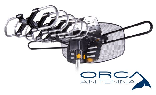 Orca Antenna AX-909G5 Stealth Indoor Outdoor HDTV Antenna with Motor Rotor