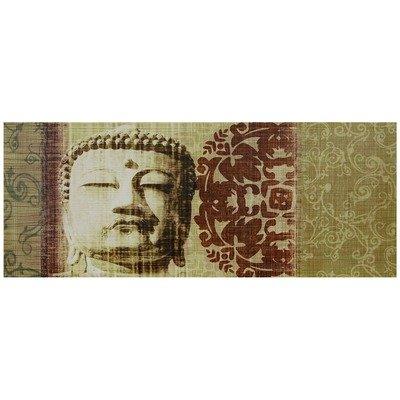 Oriental Furniture Collage Art Photography, 39-Inch Buddha Bust Canvas Wall Art Photo Print