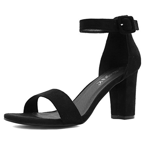 Allegra K Woman Open Toe Chunky High Heel Ankle Strap Sandals