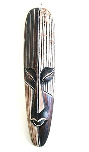 African Mask Wall Hanging Decor Luck and Fortune Statue Mask - LARGE 20