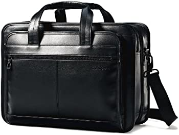 Samsonite Leather Expandable Computer Briefcase