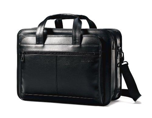 新秀丽Samsonite 17寸全皮黑色 可扩展 笔记本商务公文包图片