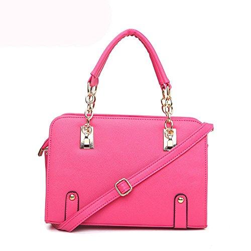 koson-man-womens-patent-leather-matel-shoulder-tote-bags-top-handle-handbagpink