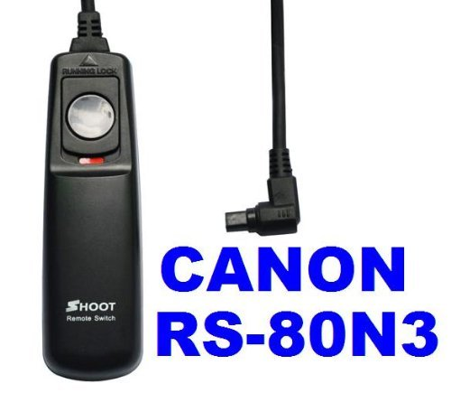 Remote Shutter Release Cable Controller RS-80N3 for Canon EOS Series
