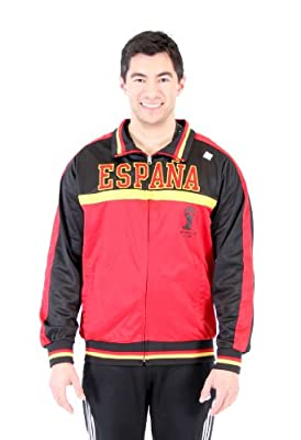 Men's 2014 FIFA World Cup Soccer Hat Trick Espana Yoke Track Jacket (Adult XX-Large)