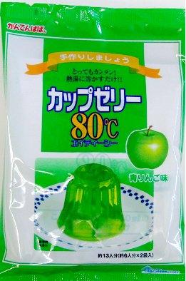かんてんぱぱ カップゼリー80℃青りんご 500g
