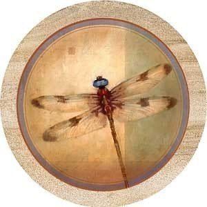 Set of Four Dragonfly Parchment Thirstystone Coasters - Style TS2129