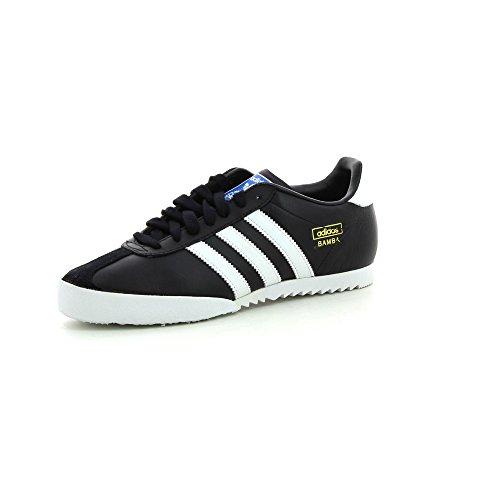 Adidas Bamba scarpe, (black1/runwht/metgol), 10.5