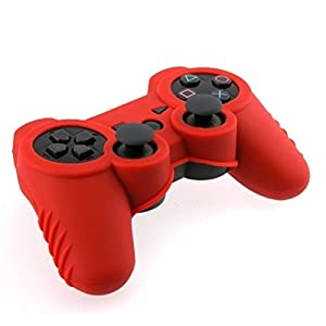 Silicone Skin Case for Sony PS3 Controller, Red