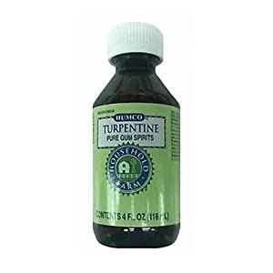 TURPENTINE GUM SPIRITS HUMCO 4 OZ