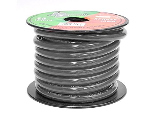 Pyramid RPB425 Ground Wire 4-Gauge, 25 Feet, Flexible, OFC Cable Wire (Black) (4 Gauge Car Speaker Wire compare prices)