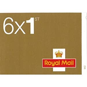 6 x 1st Class Standard Self Adhesive Stamps Royal Mail Post Office