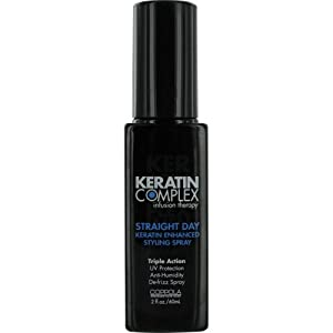 KERATIN COMPLEX by Coppola: INFUSION THERAPY STRAIGHT DAY KERATIN ENHANCED STYLING SPRAY 2 OZ