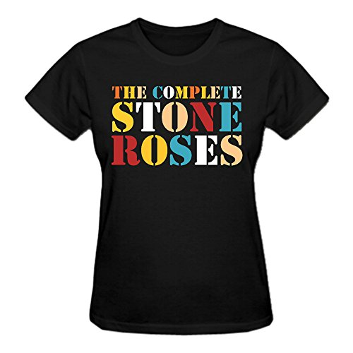 the-stone-roses-logo-womens-tee-shirt-black