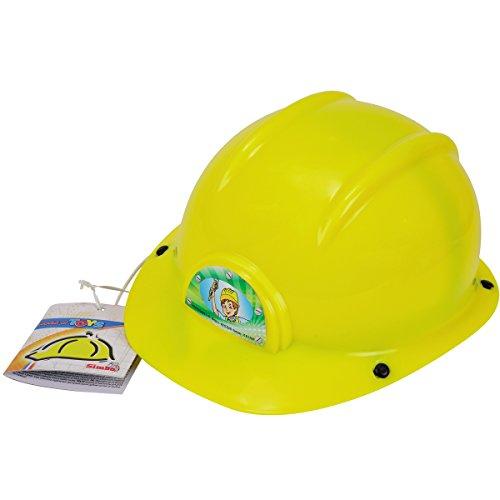Bauhelm für Kinder, gelb, Durchmesser 23 cm | Kinder Spielzeug Schutzhelm Kinderbauhelm Kopfbedeckung Spielarbeitshelm