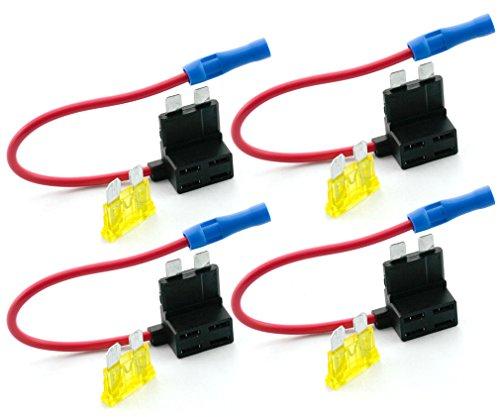 Micro-Trader-4tlg-Autosicherungen-Stromdieb-Stromabgreifer-Stecksicherung-Steck-Sicherung-Verteiler-Anschlukabel