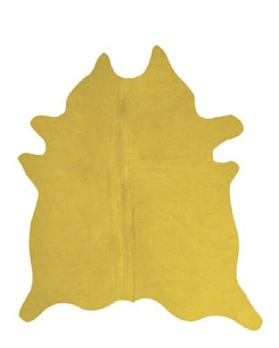 Natural Brand Geneva Cowhide Rug, Yellow, 6' x 7'