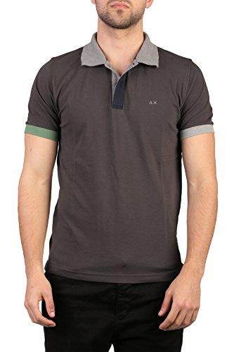 SUN68 Uomo Polo Maglia T-Shirt Primavera Estate Grigio Art 16111 5234 P16