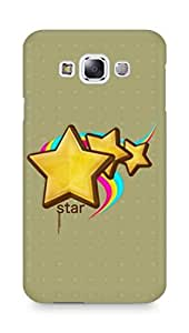 Amez designer printed 3d premium high quality back case cover for Samsung Galaxy E7 (Stars)