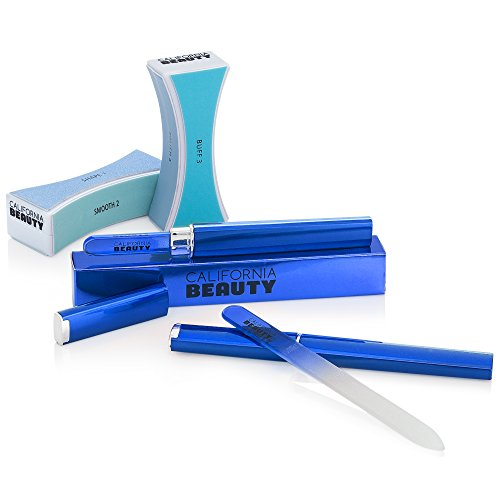 california-beauty-4-piece-manicure-gift-set-2-professional-blue-crystal-glass-files-with-hard-protec