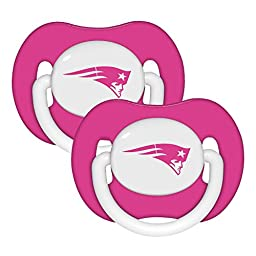 NFL Football 2014 Baby Infant Girls Pink Pacifier 2-Pack - Pick Team (New England Patriots - Pink)