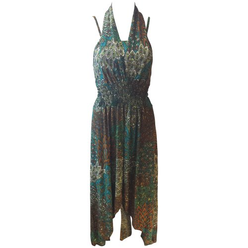 Marc Gold Women'S Teal Printed Dress