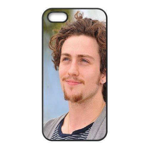 Aaron Johnson Mustache Smile Boy cover iPhone 4 4S caso cover di telefono cellulare della copertura della cassa del telefono cellulare nero EEEXLKNBC22657