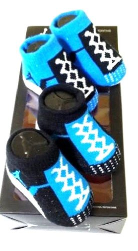 Nike Air Jordan Infant Baby Boys Booties Blue Socks 0-6 M front-1073970
