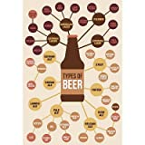 (24x36) Types of Beer Art Print Poster