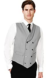 Double Breasted Wedding Waistcoat with Wool