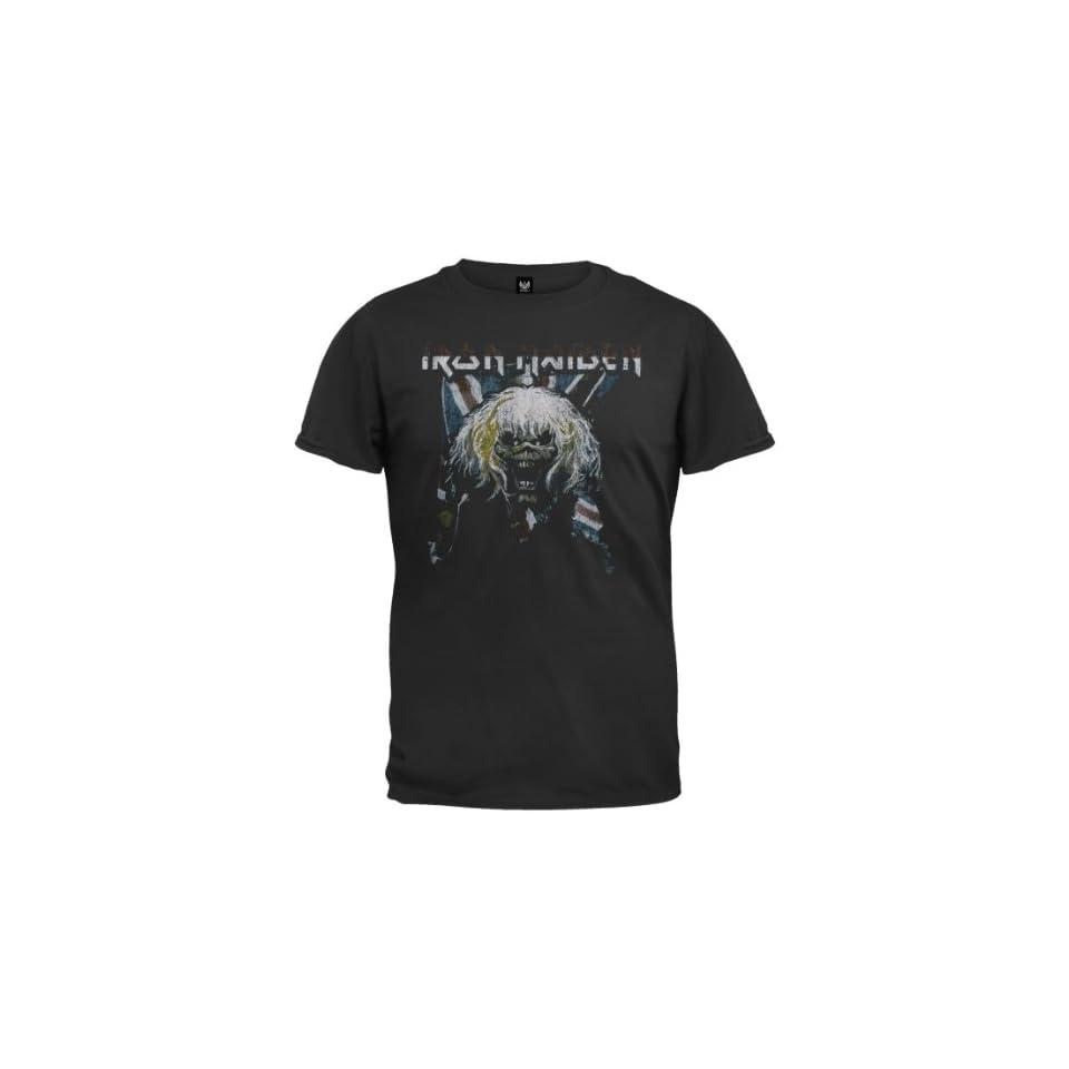 Iron Maiden   Flag T Shirt Clothing