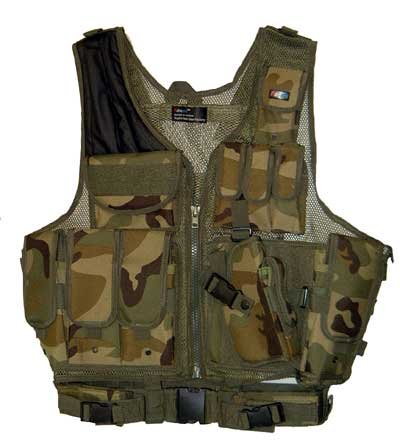 Airsoft Tactical Vest OD w/ Holster