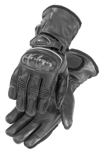 FirstGear Carbon Men's Warm and Safe Heated Street Motorcycle Gloves - Black / Large