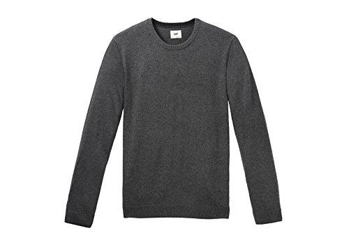 Lee - Crew Knit, Felpa Uomo, Dark Grey Mele, X-Large ( X-Large)