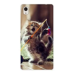 Impressive Dancing Cute Cat Back Case Cover for Xperia M4 Aqua
