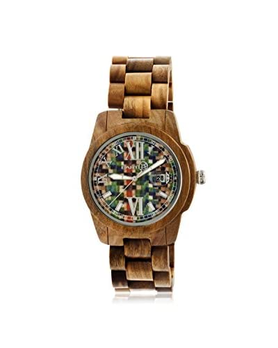 Earth Women's ETHEW1508 Heartwood Olive/Multicolor Wood Watch