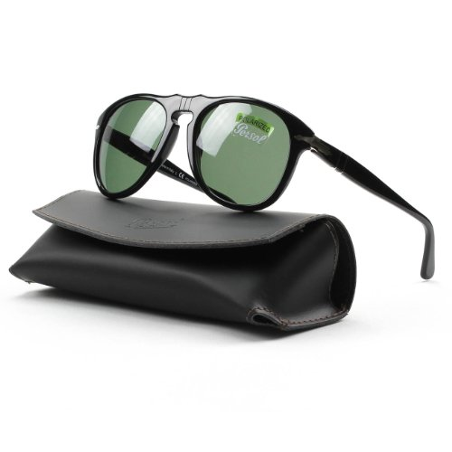 Persol Men,Women 1069986003 Black/Green Sunglasses 54mm