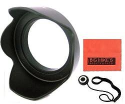 52mm Digital Tulip Flower Lens Hood for Nikon 18-55mm F/3.5-5.6g Ed Af-s Dx Nikkor Zoom Lens + Cap Keeper + Microfiber Cleaning Cloth + LCD Screen Protectors
